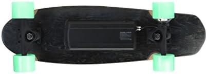 FOLLOW UP Cruiser Skateboard Electrique Mixte Adulte, Noir