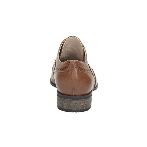 cuero Mujer Zapatos de Marron Cordones Clarks Hamble Oak de F7wyqfC