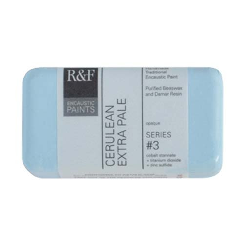 R&F Encaustic 40ml Paint, Cerulean Extra Pale
