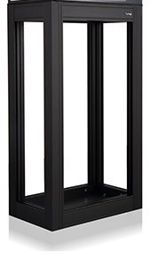 Innovative Marine Nuvo Fusion Peninsula 14 Gallon APS (Aluminum Profile Series) Aquarium Open Stand – Matte Black