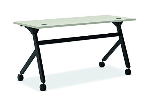 HON Assemble Flip Base Multi-Purpose Table, 60-Inch, Light Gray/Black (HBMPT6024P) ()