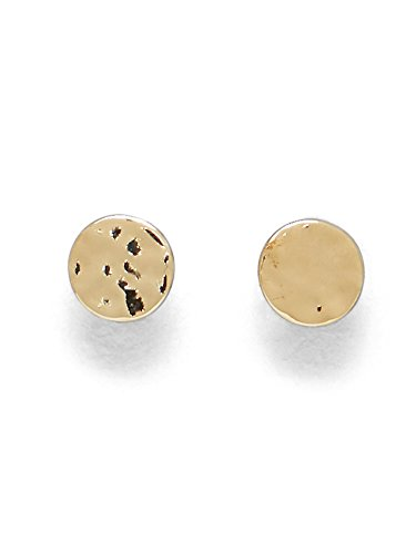 kenneth-cole-new-york-gold-plated-hammered-disc-earrings