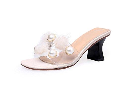 Zapatos Eu38 Salvajes Mujer De 5 Uk5 Con Fuera Cn38 5 Palabra Arrastrada Us7 Meili Zapatillas 0Swxq01