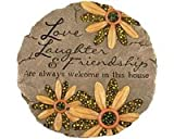 garden stepping stones Carson Home Accents CHA10146 Beadworks Garden Stone Friendship (Set of 1)