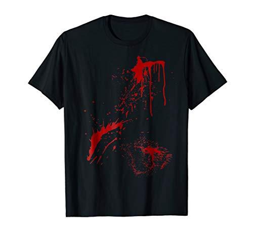 Blood Splatter Halloween Zombie, Victim T-shirt.