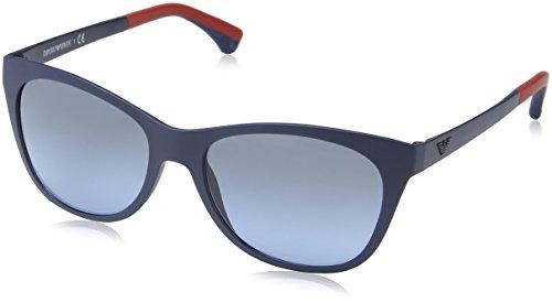 Emporio EA4046 Blue Matte Sonnenbrille Armani 6xq6vBOC