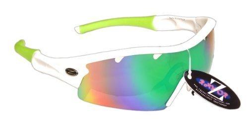 Rayzor Professional Lightweight UV400 White Sports Wrap Cycling Sunglasses, W... by Rayzor