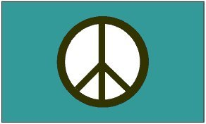 Blue PEACE Flag 3x5 BRAND NEW 3 x 5 foot Huge Banner (Blue Peace Sign Garden Flag)
