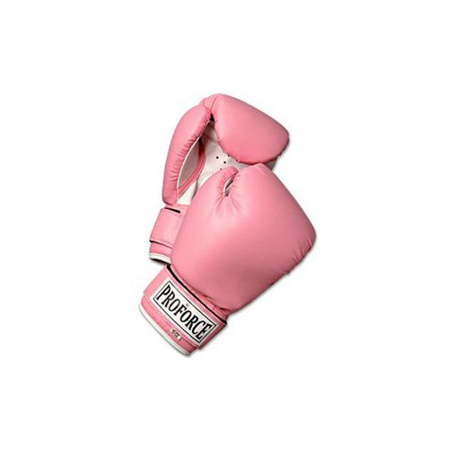 ProForce Leatherette Boxing Gloves with White Palm