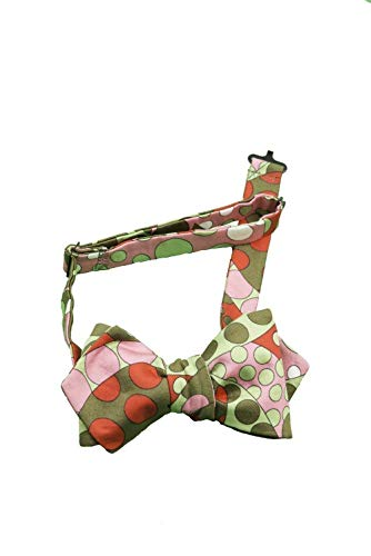 (Bow Tie, Self Tie, Bows, Ties, Neck Men, Woman, Boy, Girl, Unisex, Adjustable, Hook, Cotton, Satin, Red, Green, Pink, Multi color, One Size, Italian Style, Handmade in Florence, Italy)