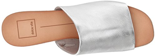 Dolce Women's Sandal Leather Slide Vita Silver Kaira 7S7wpxr