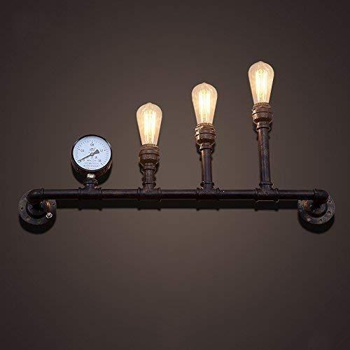 Chuiqingwang 水道管レトロの壁ランプ、コーヒーレストランバーランプの照明の装飾、鉄産業ロフトスタイルE27スリーヘッドズウォールランプ選択 (サイズ : 78*36cm) B07SD4LMBY  78*36cm