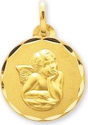 www.diamants-perles.com - Médaille Baptème - Médaille religieuse - Angelot - Or Jaune - 750/1000