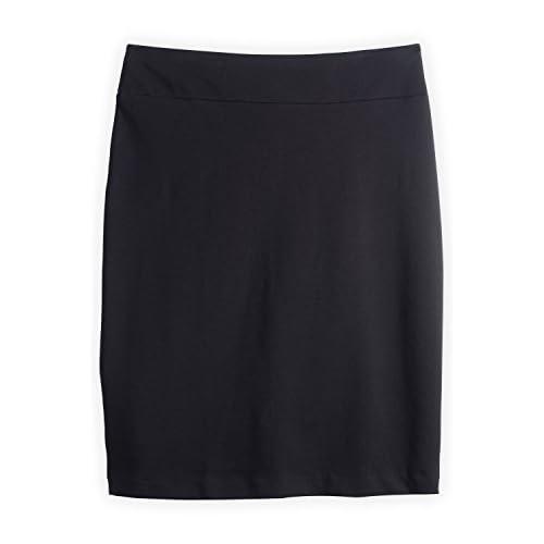 Fair Indigo Fair Trade Organic Knit Pencil Skirt