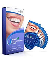 Anjou Teeth Whitening Strips, Professional 14 Sets 28 Pieces Whitestrips Kit, Remove Stains & Freshen Breath with Mint...
