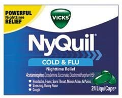 Vicks NyQuil Cold & Flu Nighttime Relief 24 LiquidCaps