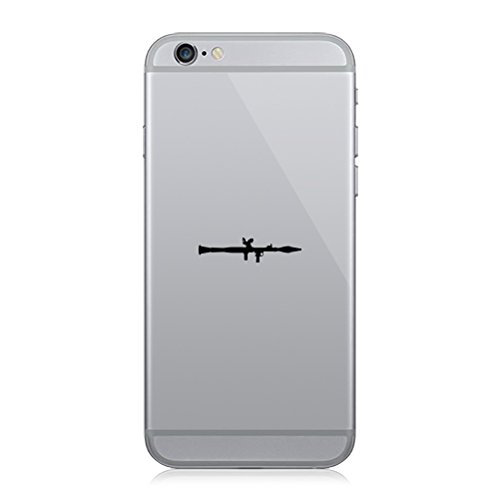 Pair of RPG Rocket Propelled Grenade Cell Phone Stickers Mobile RPG - Black (Best Cell Phone Rpg)