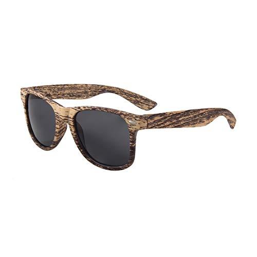 aspecto Mujeres Gafas Sunglass madera De libre cuadrado de aire al y Gafas UV400 madera Sol Hombre Presa qIYp8w