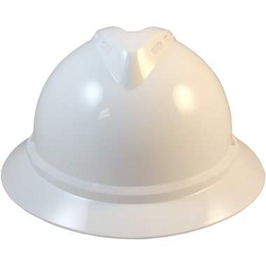 MSA 500 Series Full Brim Vented Hard Hats with 6 Point Ratchet Suspensions White by MSA (Image #3)
