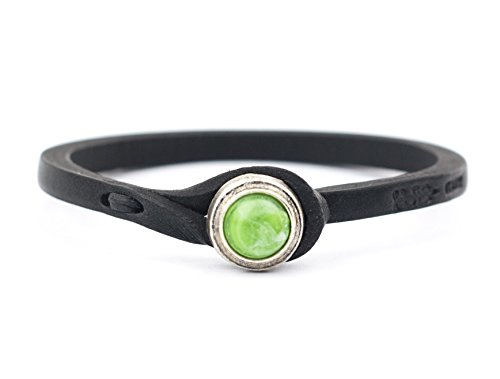 Review Genuine Italian Leather Bracelet in Multiple Color Combinations | Stone Closure | Handcrafted in Italy (Ginger)