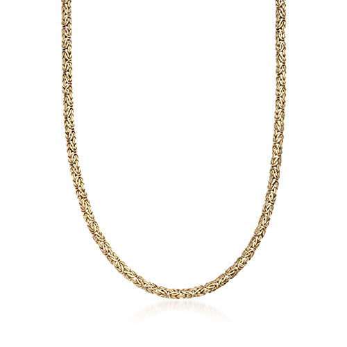 Ross-Simons 4mm 14kt Yellow Gold Byzantine Necklace ()