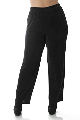 Vikki Vi Women's Plus Size Pull-On Pant 2X Black