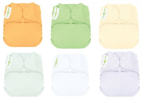 Bumgenius Elemental Organic 12 Pack Neutral Colors Cloth Diapers
