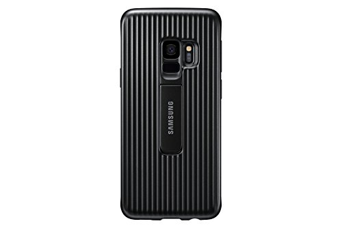 Samsung Galaxy S9 Rugged Military Grade Protective Case with Kickstand, Black - EF-RG960CBEGUS
