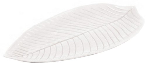 Aps Paderno World Cuisine White Melamine Leaf Dish, 17-7/8-Inch by 9-1/2-Inch