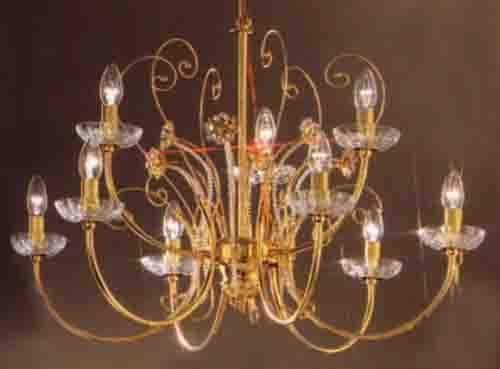 Classic Lighting 1519 Belleair Italy, Traditional, Chandelier, 24k Gold Plate