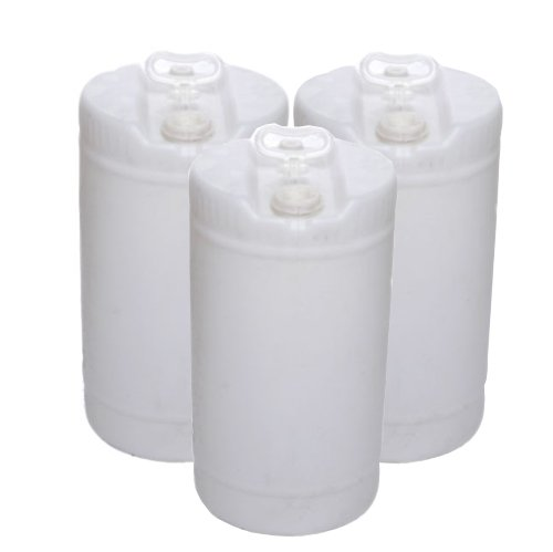 15 Gallon Closed-Head UN Rated Poly Drum with Screw Cap (Pack of 3) by Air Sea Containers