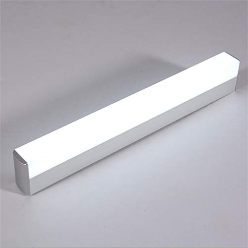 WLGBD 22w Led luz de Espejo, baño Maquillaje lámpara de Pared aparador iluminación Frontal, Aluminio (Blanco...