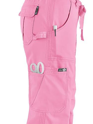 KOI Women's Lindsey Ultra Comfortable Cargo Style Scrub Pants (Petite Sizes), Pink Small by KOI (Image #3)