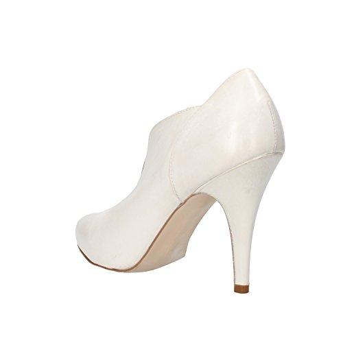 Carmens Zapatos de Salón Mujer Gris Cuero AF54 (39 EU)