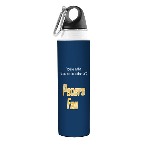 Tree-Free Greetings VB48150 Basketball Fan Artful Traveler Stainless Steel Water Bottle, 18-Ounce, Pacers by Tree-Free Greetings