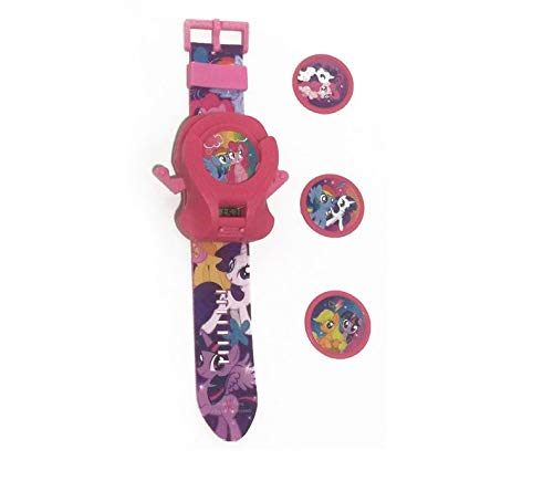 WinVI Little Pony Toy Watch, Time and Launch Round Bullet, Discs Laucher Watch