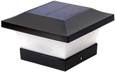 IP65 Wasserdicht Solar S/äulenlampe Landschaft Lampe f/ür Zaunpfosten Leitplanke Solar Pfostenkappen Leuchte LED Solar Zaunpfosten Lampe Deck