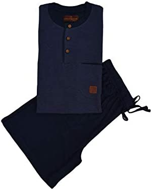 Disponibile in due Varianti Colore MAGLIA MEZZA MANICA COLLO SERAFINO CON BOTTONCINI E PANTALONCINO Articolo Scatolato completo uomo corto homewear TOP in piquet PANTA in gersey cotone
