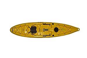 mako12-Y Riot Fishing Kayak Mako 12' Sit on Top, Recreational Yak, Entry level, Yellow by Kayak Distribution