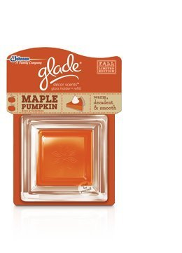 Glade Decor Scents Glass Holder & Refill ~ Maple Pumpkin ~ Limited Edition