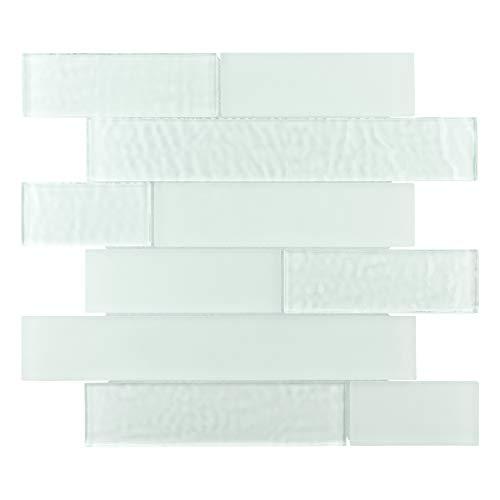 Glacier Tile Flooring - SomerTile WITIPLGW Igluit Panel Glass Mosaic Wall Tile, 11.625