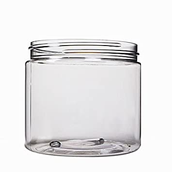 Amazon.com: (Caso de 12) transparente 16 oz Pet Jar con tapa ...