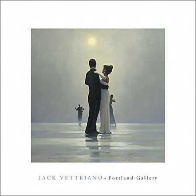 (Jack Vettriano Dance Me to the End of Love Contemporary Art Poster Print 15.75 by 15.75)