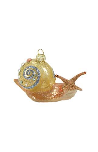 Cody Foster & Co Garden Snail Glitter Glass Hanging -