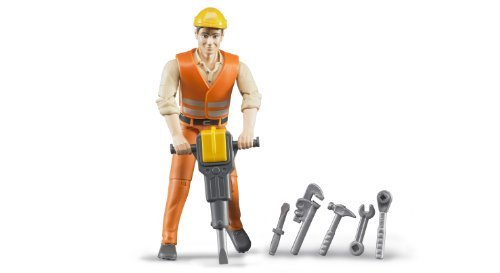 Bruder Construction Worker with Accessories by Bruder Toys