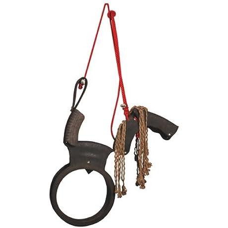 Esschert Design Tire Swing Horse With Rope Mane