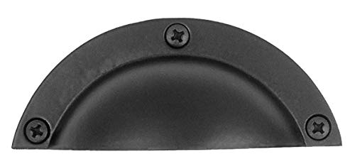 - Acorn APUBP Forged Iron Cabinet Cup/Bin Pull - Black