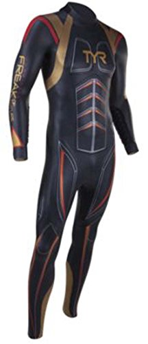 TYR Men's Hurricane Freak of Nature Wetsuit, X-Small, Gold/Red
