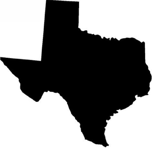 """8"""" texas black die cut vinyl decal sticker for any smooth surface such as windows bumpers laptops"""