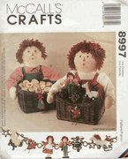 Mccalls 9897 Sewing Pattern for Raggedy Ann & Andy Gift Baskets Centerpiece Ornaments Stockings Christmas ()